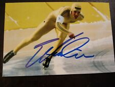ERIC HEIDEN Hand Signed Autograph 4X6 PHOTO - OLYMPIC GOLD MEDAL SPEED SKATER