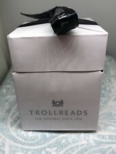 Authentic Trollbeads Gift Box with Tissue & Organza Bag, New