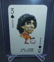 Diego Maradona Chinese Chen 1989 Soccer Argentina Oddball Playing Card RARE