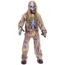 Skeleton Zombie Costume child large 12-14 Fun World 5919