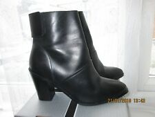 ASOS BLACK LEATHER ANKLE BOOTS SIZE 6 UK 39 EU ONLY BEEN WORN ONCE