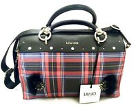 LIU JO Damen Tasche Satchel Darsena Tartan Bag rot red schwarz black NEU Etikett