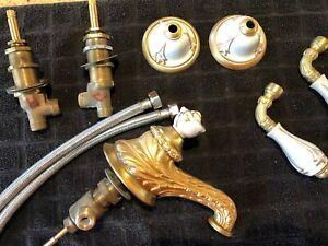 Vintage 1960's Sherle Wagner Gold Leaves Faucet
