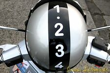 """VESPA Aufkleber Helm """"Handschaltung"""" - Weiß - Blechroller Schaltung V50 PX Rally"""