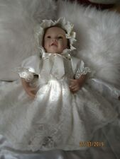 "CLOTHES FOR BAby 3-6mths /REBORN doll 22 "" all cream two  piece  set  NEW"