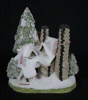 "Vintage 1984 David Winter Cottages ""Snow Cottage"" Figurine * 6"" * Excellent!"
