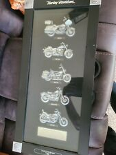 New ListingHarley Davidson Motorcycles Bikes Of The 1980s Framed Art Plaque Shadow Box