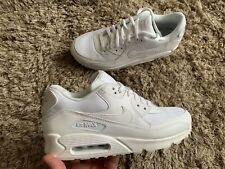 Nike Air Max 90 Essential Triple White Mens Trainers New Size UK 9 ( EUR 44 )