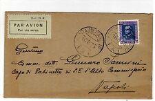 1935 Eritrea lire 1,25 - lettera via aerea da posta militare n. 12 - spl