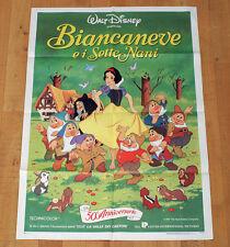 BIANCANEVE E I SETTE NANI manifesto poster Snow White Walt Disney Animazione