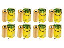 OEM Mann Set of 8 Oil Filters HU 726/2 X 99-05 CASE For VW TDI Jetta/Golf/Passat