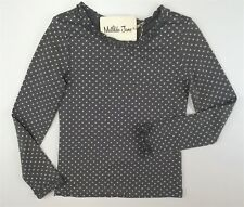 New Matilda Jane Hello Lovely Connect the Dots Tee Gray Top Shirt Size 8 y