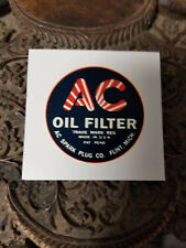 AC Oil Filter Water Slide Decal 1920s