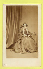 Victorian CDV - Lady  wearing Crinoline Dress - Merrick - Brighton
