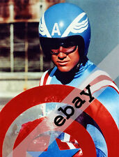 Captain America (1979) TV Show Reb Brown on motorcycle 8X10 PHOTO #1849