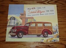 1939 Ford V-8 Station Wagon Sales Brochure 39 De Luxe