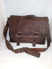 Vintage Toni Dark Brown Genuine Leather Laptop Bag Messenger Bag Satchel