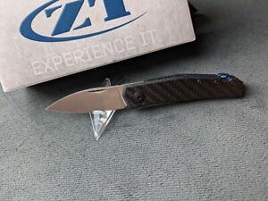Zero Tolerance ZT 0235 Jens Anso Slipjoint Carbon Taschenmesser 20cv Stahl Neu