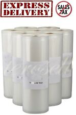 "Eight 11""X50' Rolls FoodVacBags 4mil Vacuum Sealer Bags Huge Money & Food Saver"