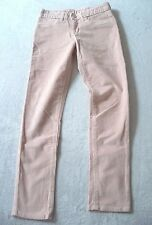Jean Slim  ♥ GAP ♥ 8 ans Fille pantalon velours rose nude taille ajustable