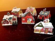 Set of (6) Metal Christmas Farmhouse and Barn Light Covers