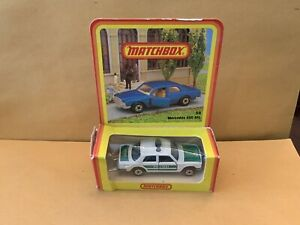 """Matchbox Superfast No. 56 Mercedes 450 SEL """"Polizei"""" Tampo German Issued Box"""