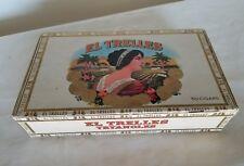 El Trelles Tryangles De Luxe Vintage Cigar Box 25 Cents VERY RARE Tobacco