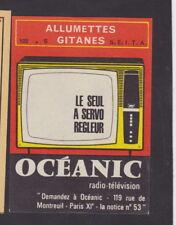 Ancienne   étiquette  Allumettes  France  BN25296 Télévision Océanic
