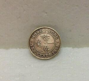 HONG KONG  KG VI  10 cents 1951  #3