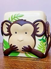Tissue Box Cover Three Wise Monkeys See Speak Hear No Evil 3 Dimensional Plaster
