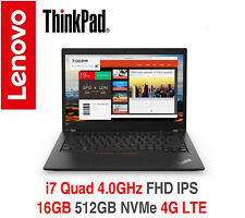 ThinkPad T480s i7 Quad 4.0GHz FHD IPS 16GB 512GB NVMe 4G LTE 2Y OS +ADP Warranty