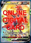 1X Galarian Zapdos V 173/198 Chilling Reign Pokemon Online Digital Card