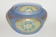 Antico blu Dose Vaso vetro Vasi Stile liberty Art Nouveau Barattoli RARO