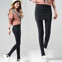 Women/'s Slim Fit Pants Skirt Skinny Casual Leggings Warm Plain Yoga Gym Trousers