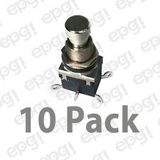 Dpdt Onon Metal Button Push Button Switch 4amps 125vac 66 2462 10pk