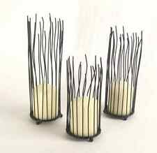 Wrought Iron Candle Holder Set of 3 Black Centerpieces for Dining Table Gifts