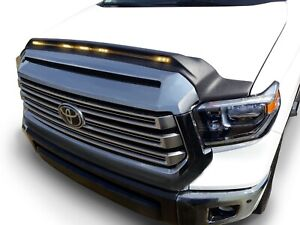 Aeroskin Low Profile Light Shield Hood Protector AVS for Toyota Tundra Black