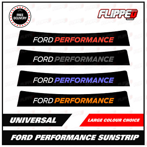 Performance Universal Sunstrip Kit Fiesta Focus RS Window Banner fits ford cars