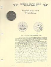 Historic Coins the World Western Samoa 1 Tala 1978 aUNC 1st Transatlantic Flight