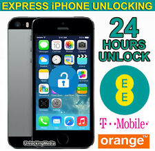iPhone 4S 5 5S 5C SE Factory Unlocking Service For UK EE Orange Tmobile - 24 Hrs
