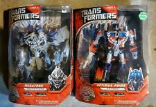 Transformers the Movie Leader Class Megatron AND Optimus Prime 2007 NEW SEALED!