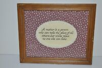 Mother 's Day Poem Calligraphy in Frame Size 8x10