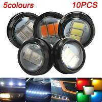 10PCS 12V Car Truck Lorry Trailer Marker Light Round Led Button Rear Side Lamps