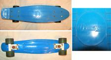 Chicago Skates Cruiser Blue Retro Skateboard With Single Kicktail Board Design