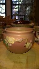 "Vintage Roseville Art Pottery Pink Apple Blossom 300-4"" Jardiniere Beautiful"