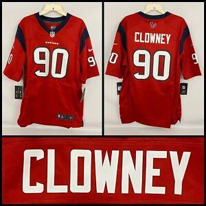 NWT Men's JADEVEON CLOWNEY Houston Texans RED Alternate Nike Game Jersey