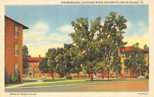 New listing Baton Rouge LA   LOUISIANA STATE UNIVERSITY~The Barracks   ca1940's Postcard