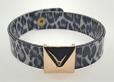 By Chuns, Size 6.75 inches Black & White Leopard Bracelet