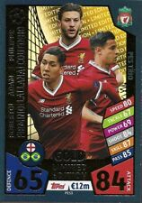 MATCH ATTAX CHAMPIONS LEAGUE 2017/18 LIMITED EDITION LIVERPOOL PES TRIO