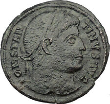 Constantine I The Great 326AD Silvered Ancient Roman Coin Military gate  i32129